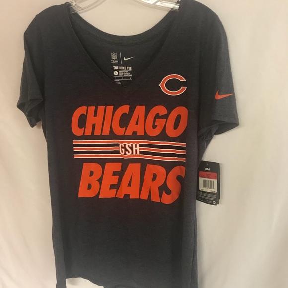 Nike athletic cut womens Chicago bears shirt NFL a33b6aaec